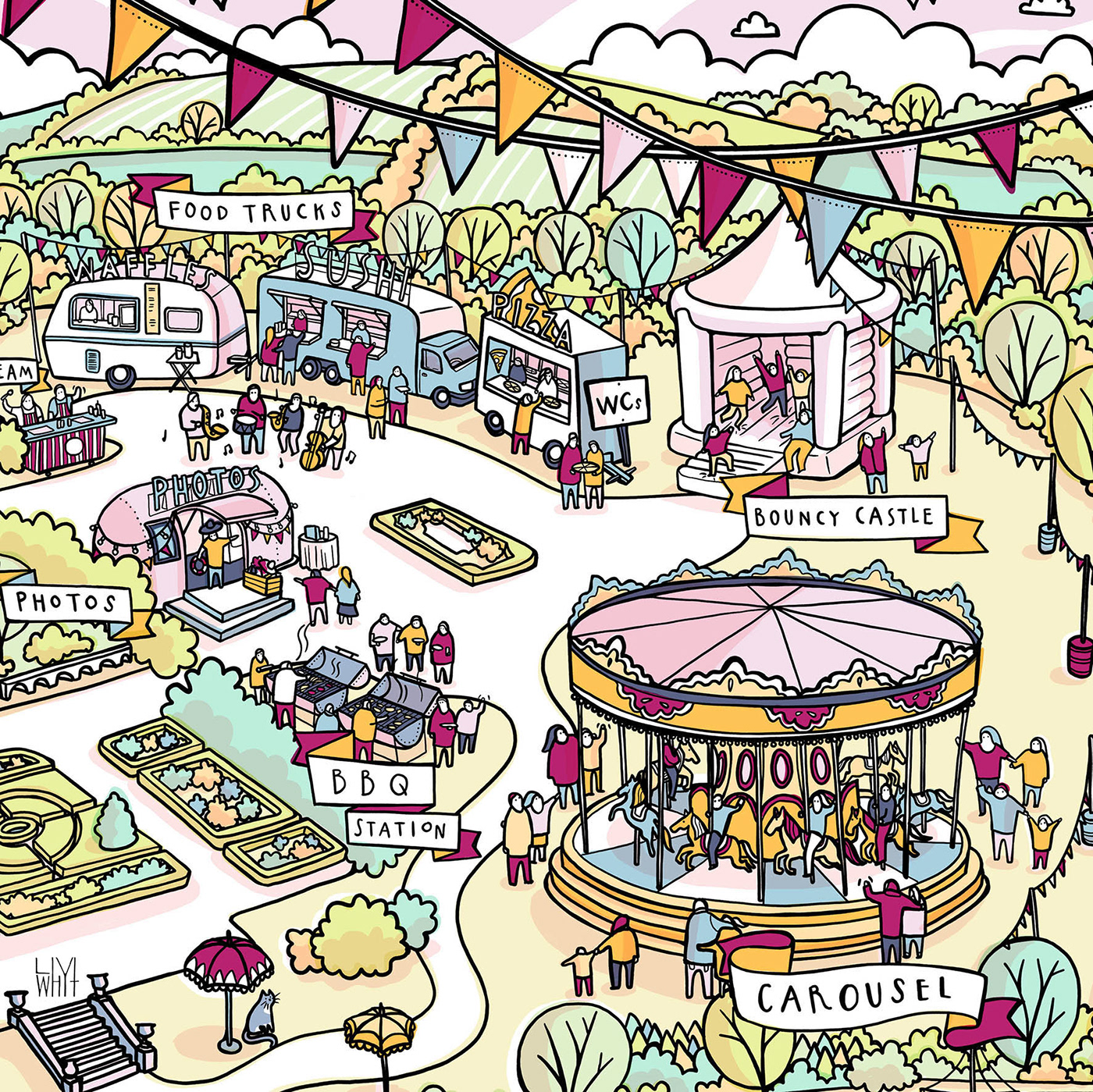 Quintessentially Illustrated Venue Map on Behance.
