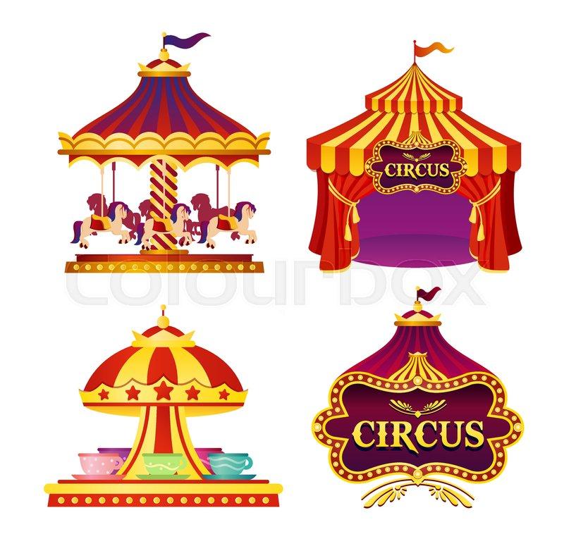 Vector illustration set of carnival.