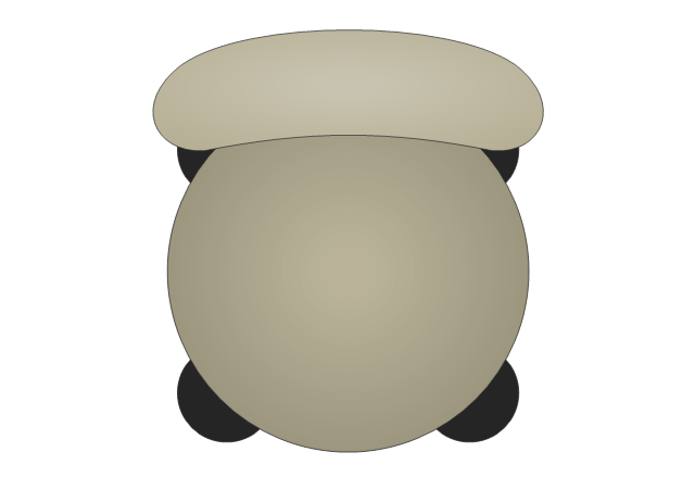 Top View Chair Clipart.