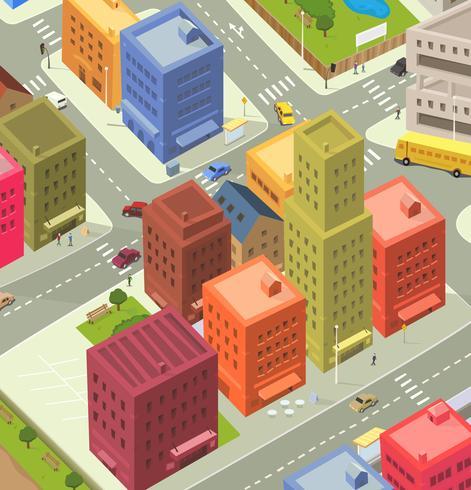 Cartoon City Aerial View.