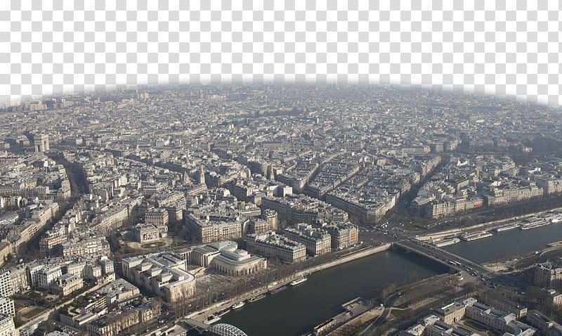 Eiffel Tower City, Paris overlooking diagram transparent.
