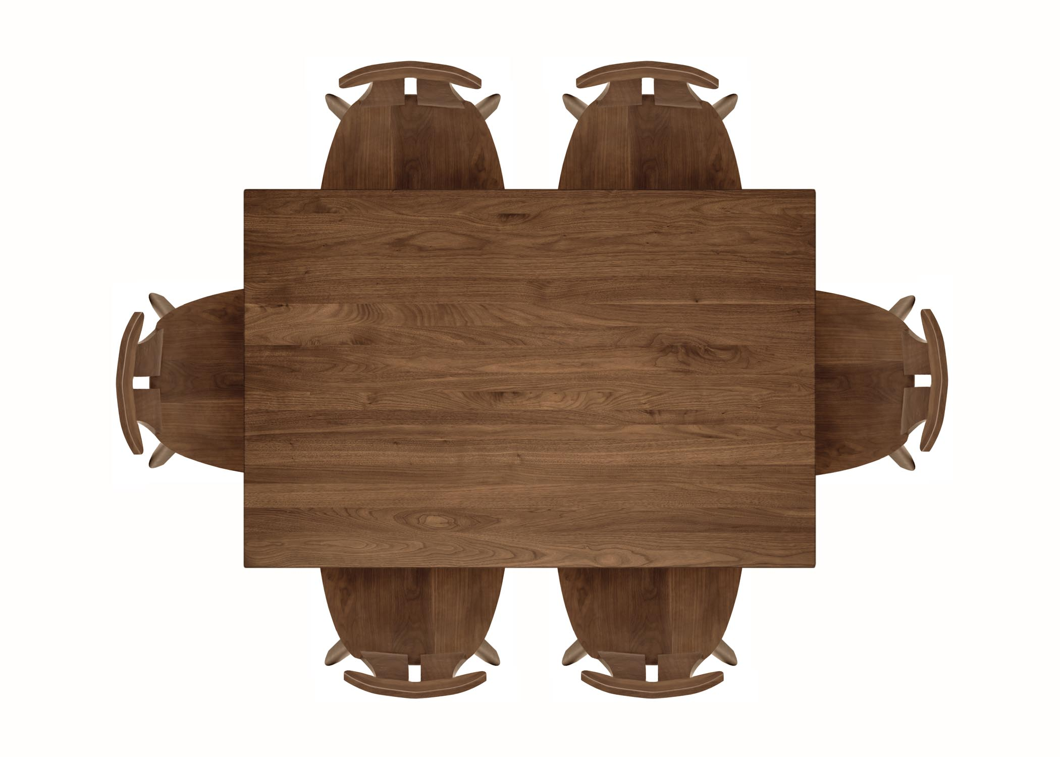 Top View Of A Table With No Chairs Clipart.