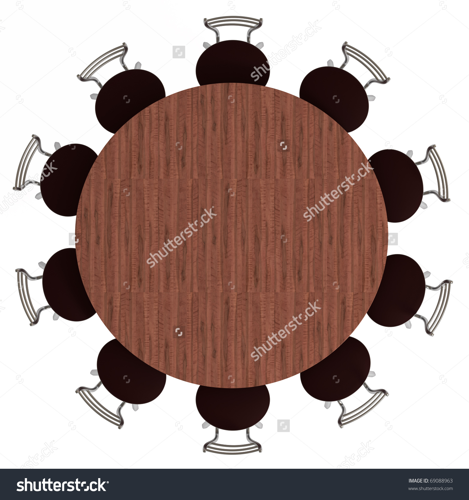 Aerial View Of A Table Clipart.