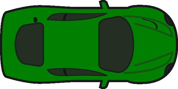 Car aerial view clipart.