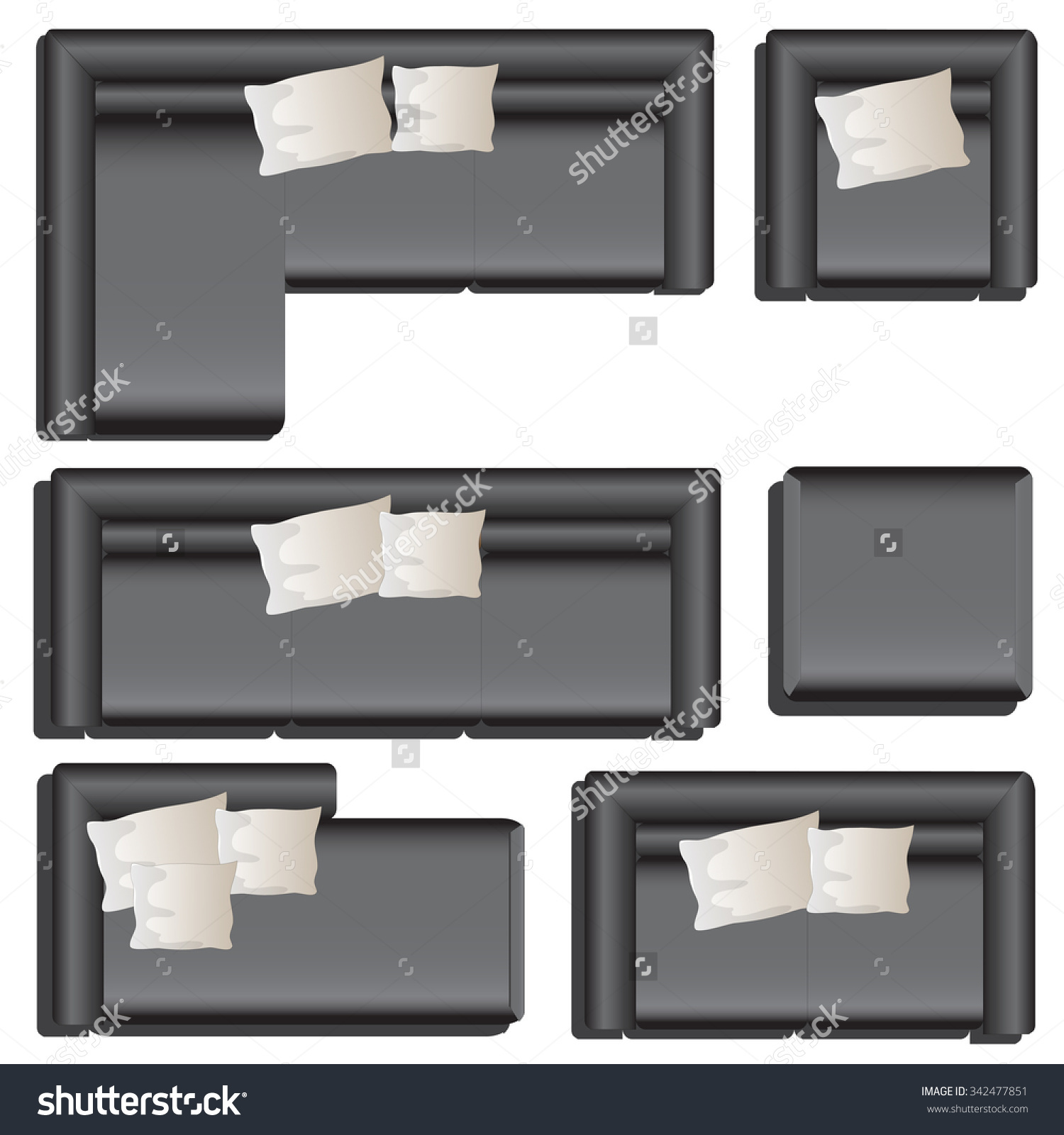 Couch Clipart Top View.