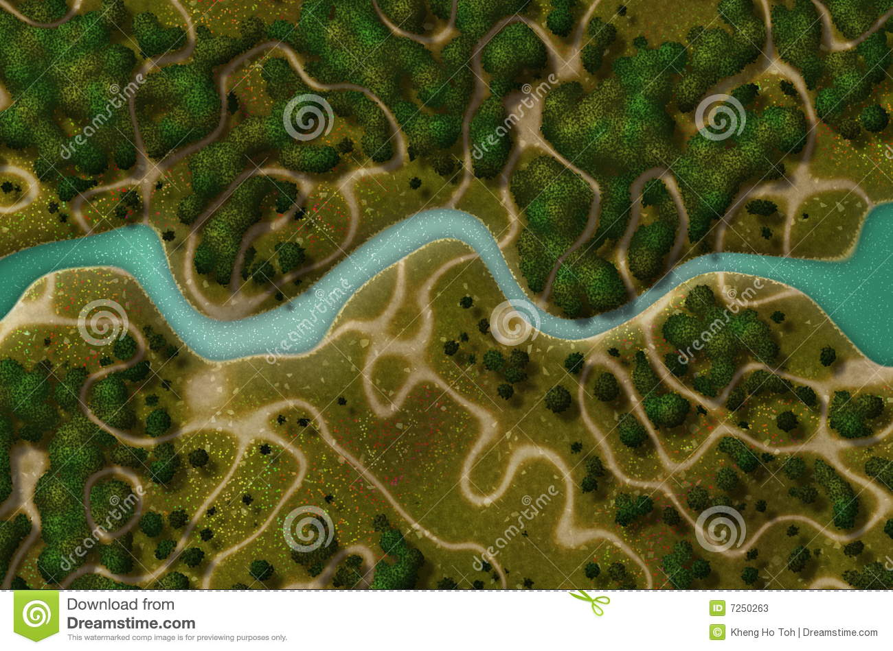 River Clipart Birds Eye View.