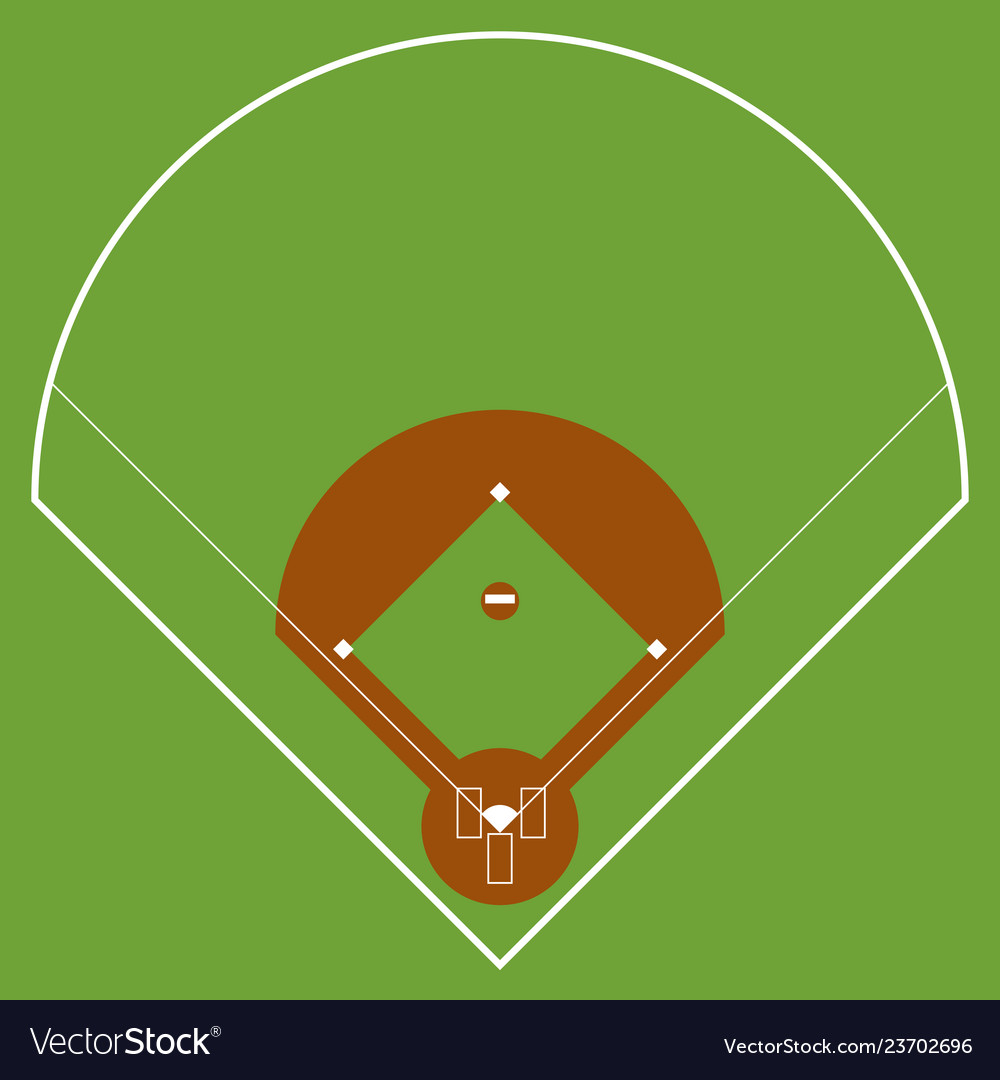 Isolated aerial view of a softball field.
