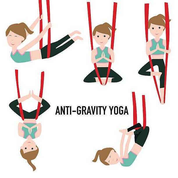 Best Aerial Yoga Illustrations, Royalty.