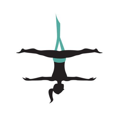 Aerial Yoga Clipart.