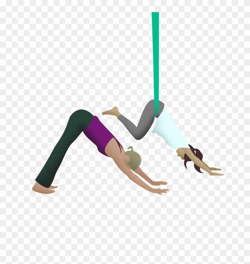 Aerial Yoga Pose Png Hd Quality.