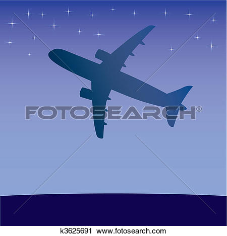 Clipart of Airplane aero aviation silhouette. k3625691.