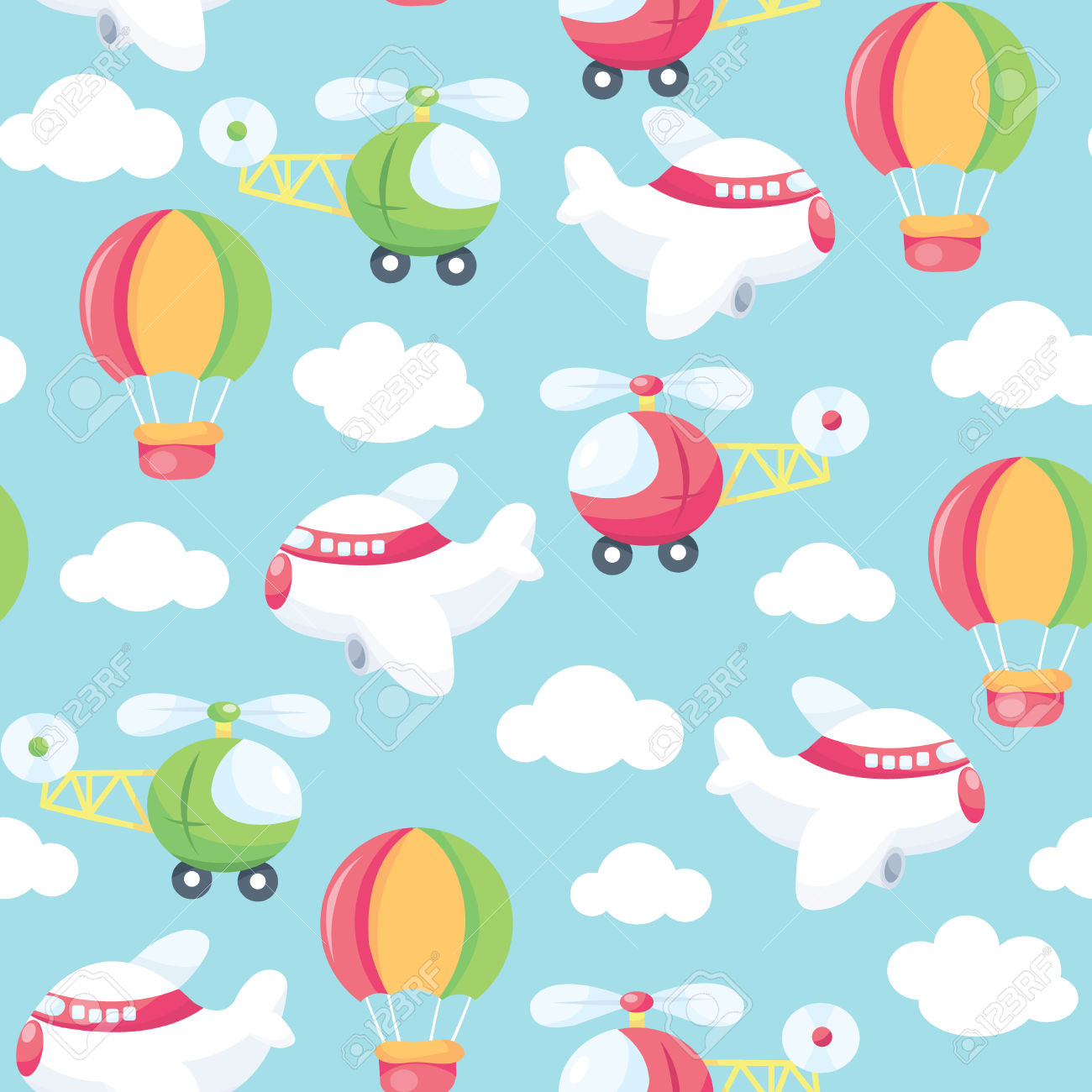A Vector Seamless Pattern Background Illustration Of Cute And.
