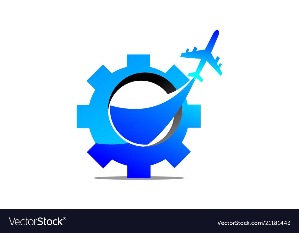 Aero technology logo design template.