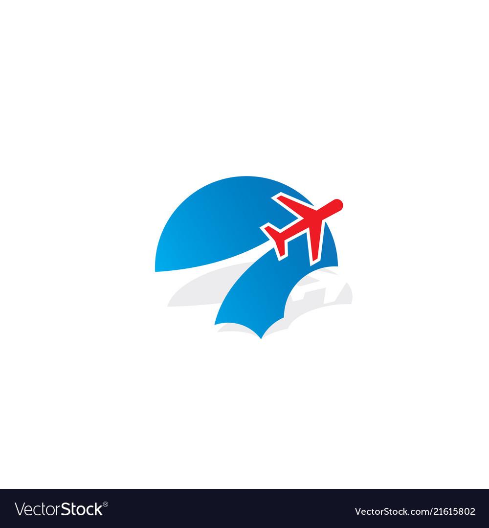 Plane cloud aero logo.