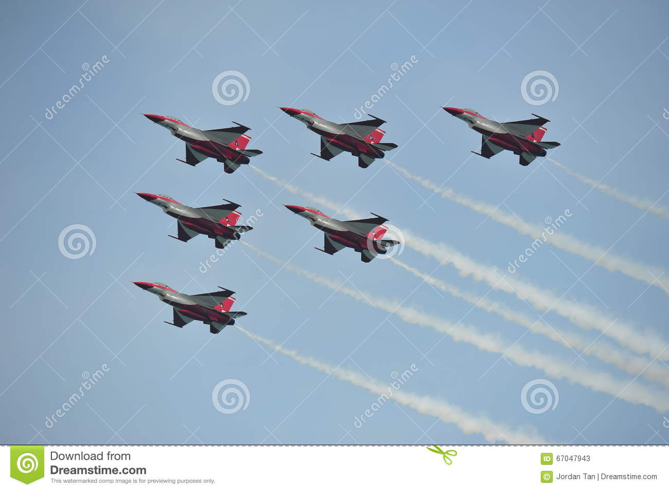 Aerobatic Flying Display By Republic Of Singapore Air Force (RSAF.
