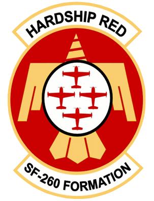 Hardship Red aerobatic team.