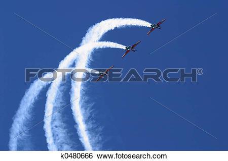 Stock Images of Aerobatic display k0480666.