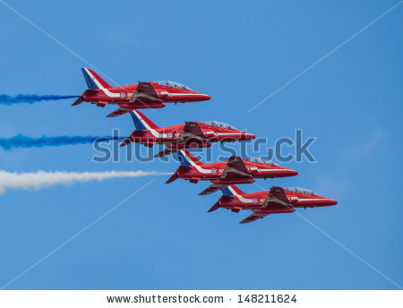 Red Arrows Jet Stock Photos, Royalty.