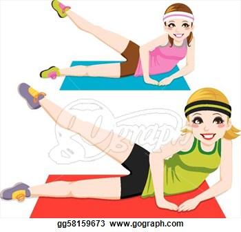 Aerobic exercise clipart.
