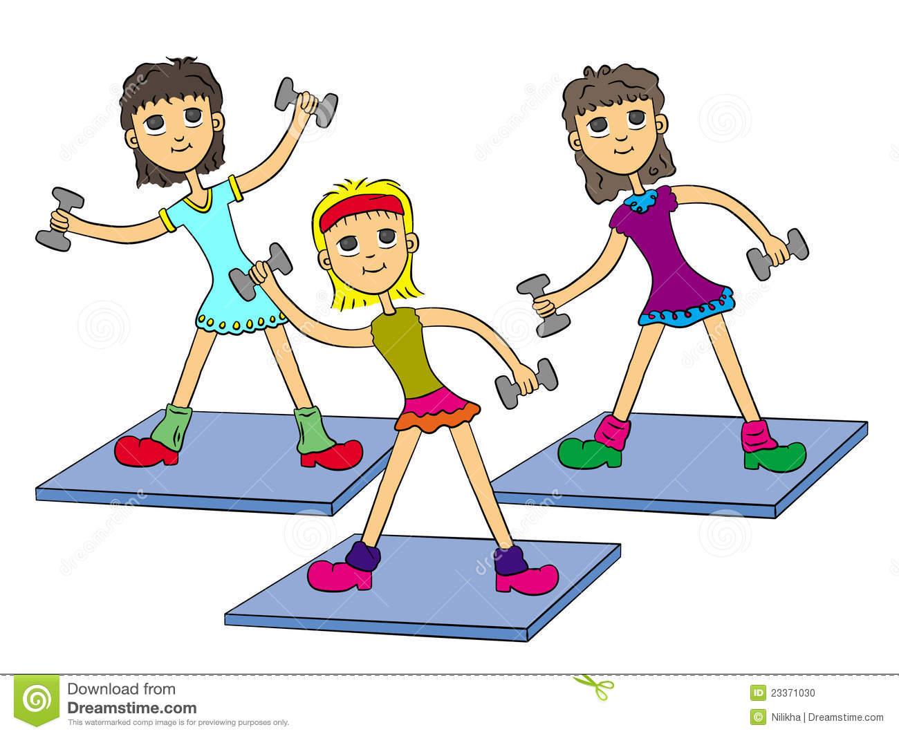 Aerobics Cartoon Clipart.