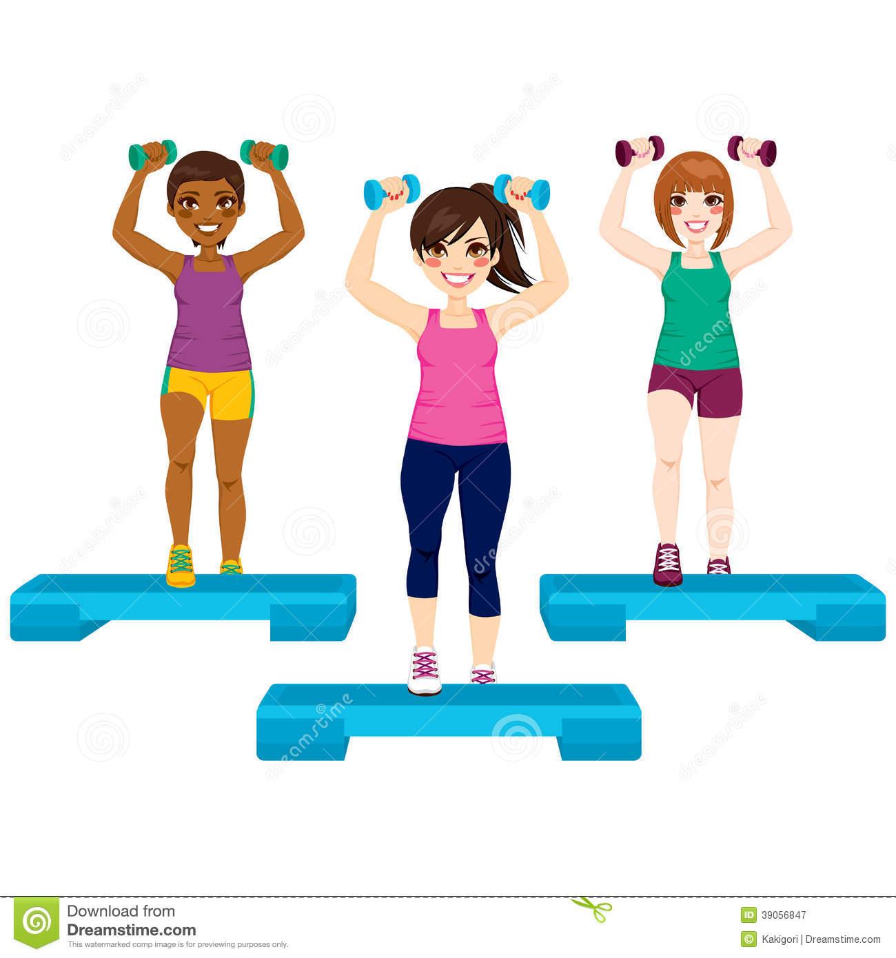 Aerobic exercise clip art.