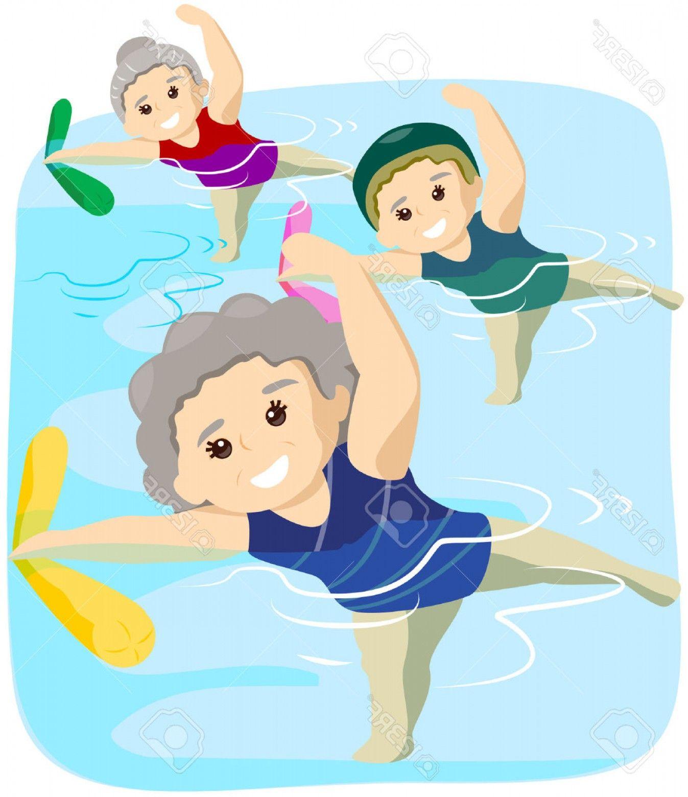 Water Aerobics Clip Art.