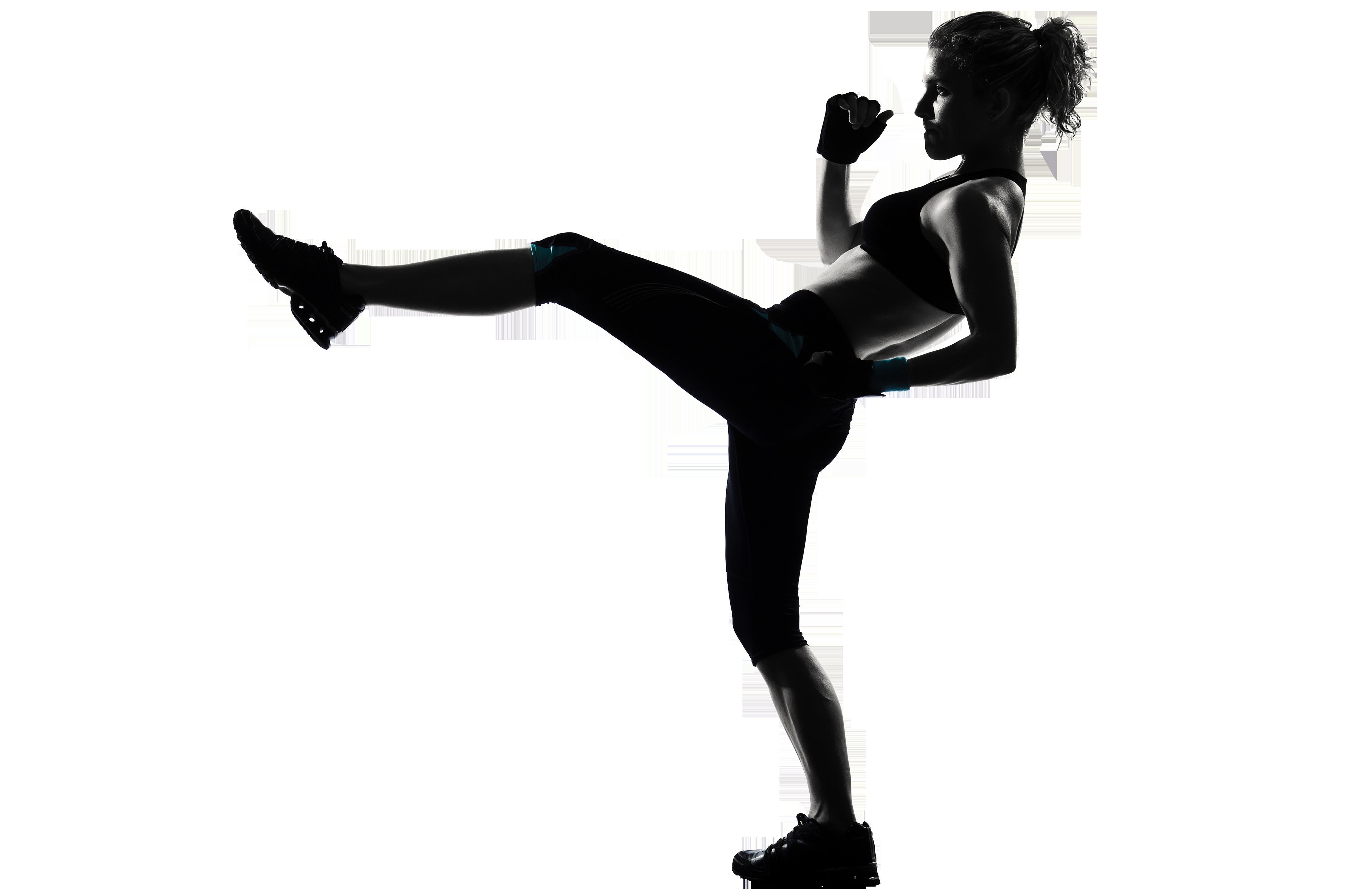 Kickboxing Women\'s boxing Silhouette Woman.