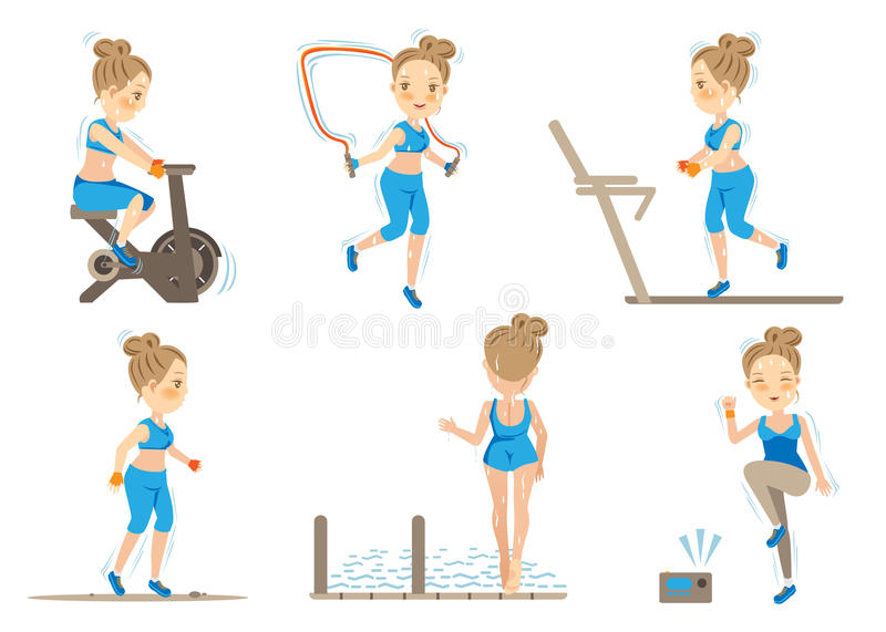Cardio Exercise Stock Illustrations.