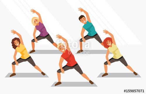 Aerobics. Vector illustration\