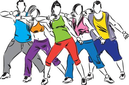 3,421 Aerobic Dance Stock Vector Illustration And Royalty Free.