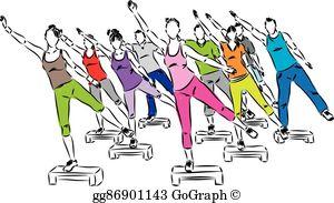 Step Aerobics Clip Art.