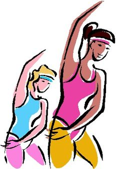Aerobic Exercise Clip Art.