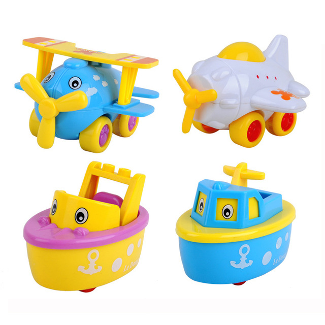 4pcs/set lovely pull back airplane spaceship vehicle toy mini.