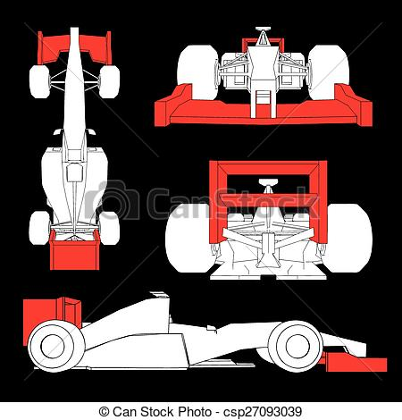 Vectors of aerodynamics racing car.