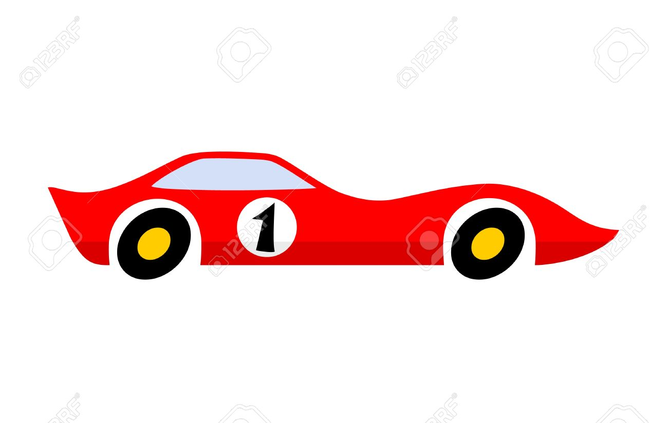 Aerodynamic Red Car Royalty Free Cliparts, Vectors, And Stock.