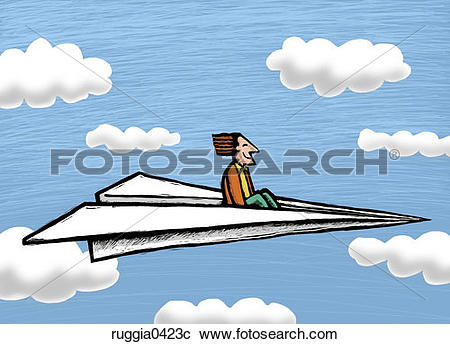 Stock Photography of people, paper airplane, flying, travel.