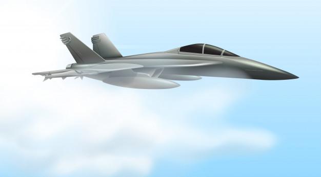 Escena de vuelo de aviones de la fuerza aérea.