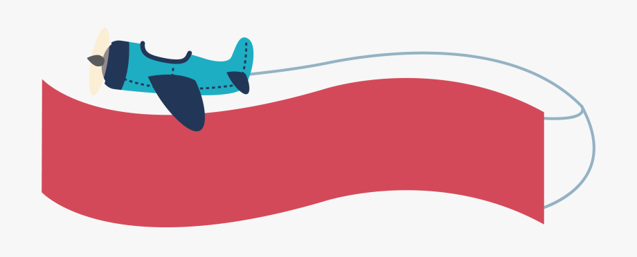 Airplane With Banner Clipart.