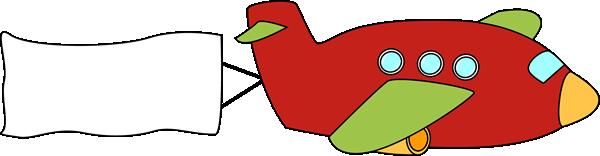 Banner Airplane Clip Art.
