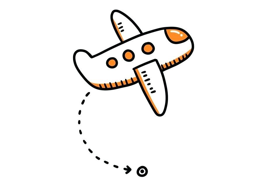 airplane pattern airplane cartoon clip art orange simple.
