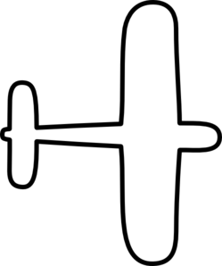 Airplane Clipart Outline.