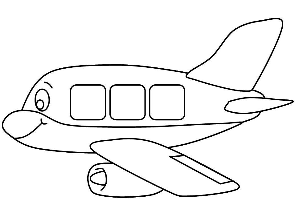 Airplane Colouring Page.