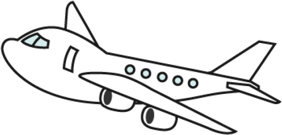 Airplane Clipart Black And White Png , Transparent Cartoon.