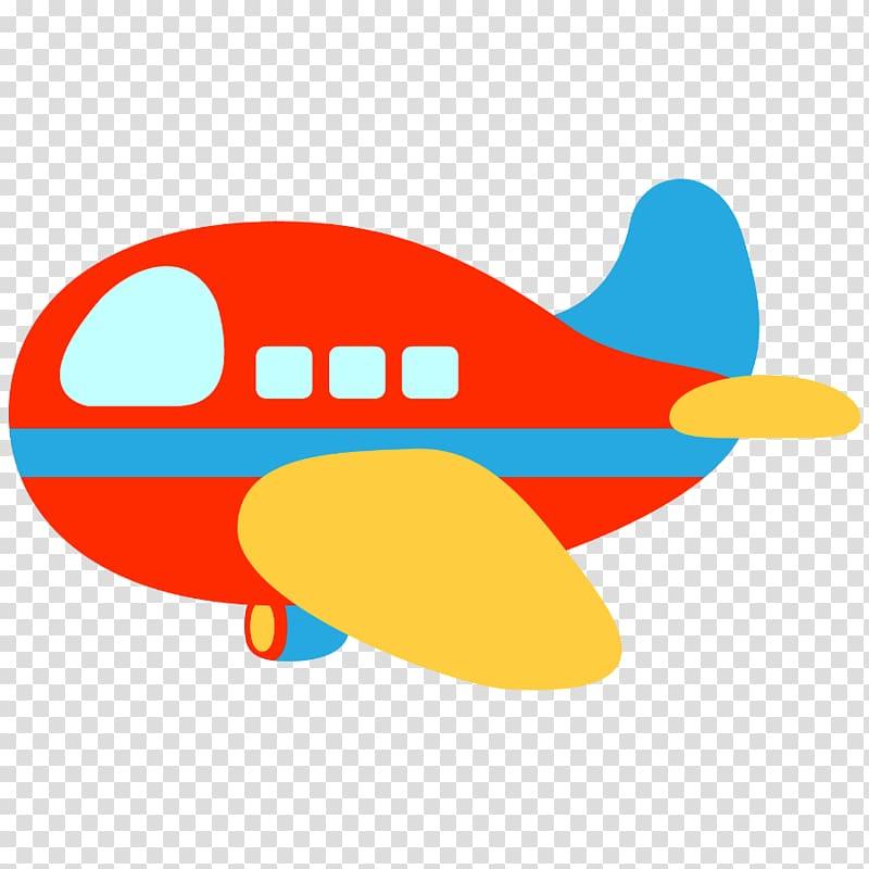 Red and blue plane , Airplane Aircraft , plane transparent.