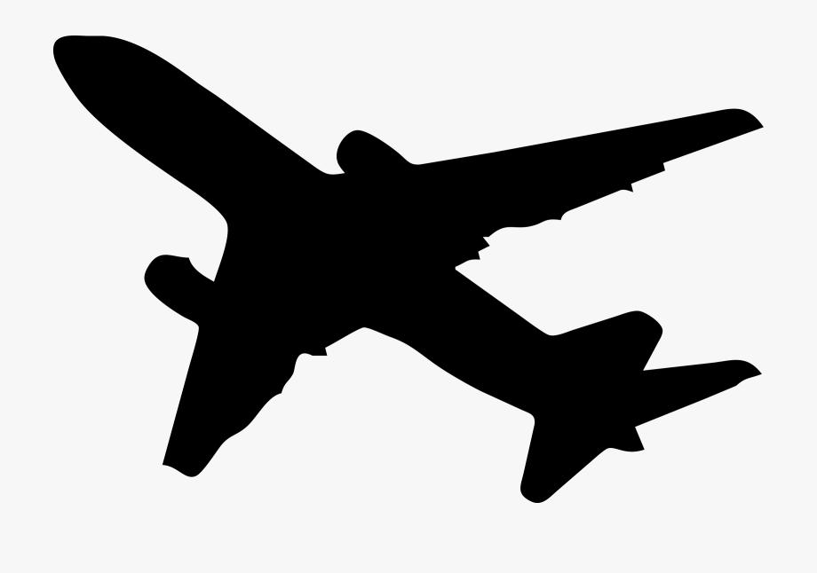 Plane Clipart Silhouette.