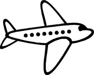 Black And White Airplane Clipart.