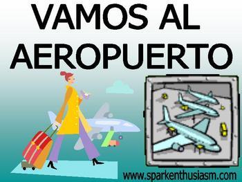 Airport (El aeropuerto) Power Point in Spanish (82 slides).