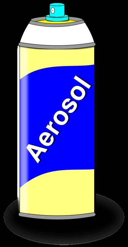 Free Aerosol Spray Can Clip Art.