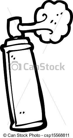 Vector Clip Art of cartoon aerosol can csp15568811.