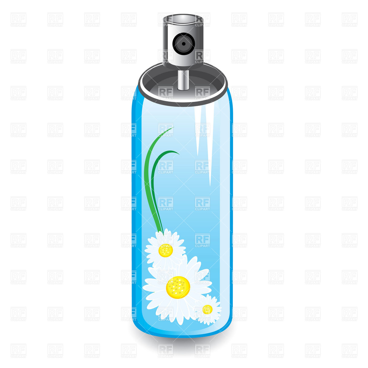 Capacity with aerosol of different colours Vector Image #78764.